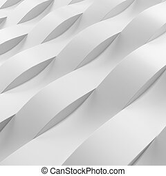 Wave pattern wall isolated on a white background