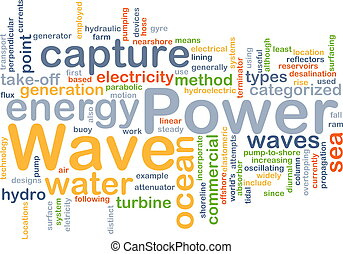 Wave power background concept