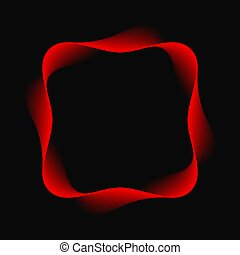 Wave red frame abstract background