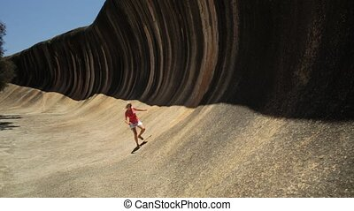 Wave Rock surfer