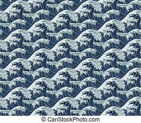 Wave Seamless Pattern Print