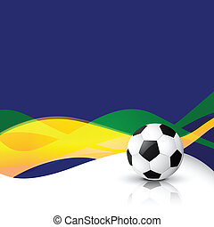 wave style vector football