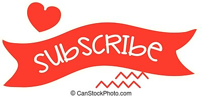 Wave Subscribe Banner Vector