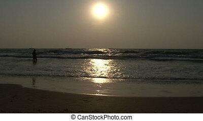 wave sunset