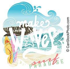 wave surf paradise