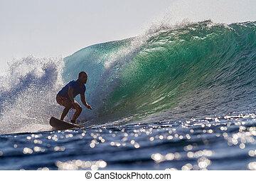 wave., surfen