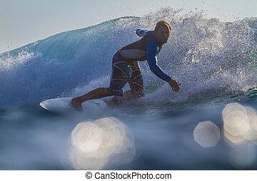wave., surfer
