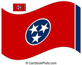 Wave Tennessee Flag Vector illustration Eps 10