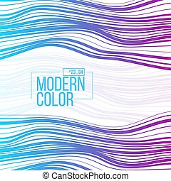 Vector gradient streak background. - Wave texture of color...