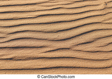 Wave texture on sand beach