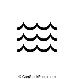 Wave vector icon on white background. Flat design.