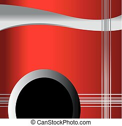 Wave vector on red background