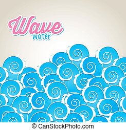 wave water over gray background vector illustration