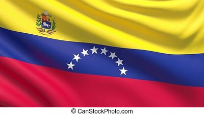 Waved highly detailed flag of Venezuela
