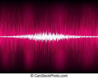 waveform, bíbor, elvont, eps, háttér., vektor, 8