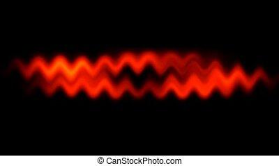 waveform, czerwone tło