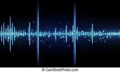 waveform, dźwiękowy, seamless, pętla, stabilizator
