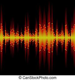 waveform., seamless, son, vector.