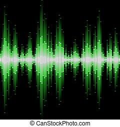 waveform., seamless, sonido, vector.