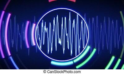 waveform technology loop animation