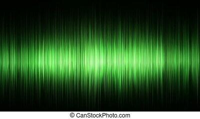 waveform, zielony
