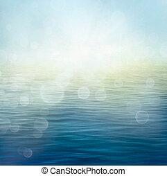 waves, в, движение, blur.
