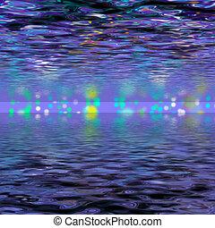 waves., abstrakcyjny, fale