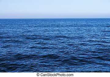 north sea - waves and blue sky (north sea)