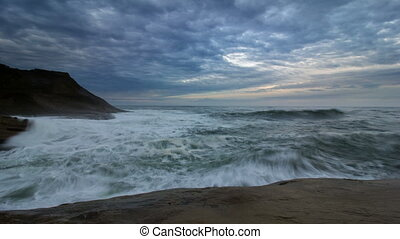 Waves and Clouds Time Lapse 1080p - Crashing Waves and...
