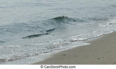 Waves and sand beach, seaside