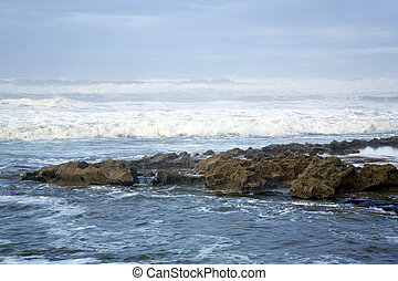 Waves ashore the Atlantic ocean - Waves ashore the winter ...