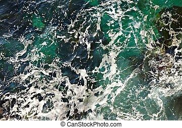 Waves ashore
