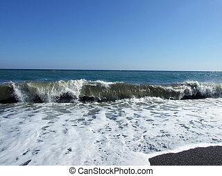 Waves at coast of the Black sea 3