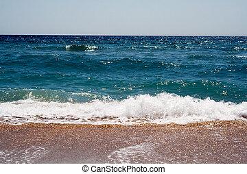 Waves at coast of the Black sea