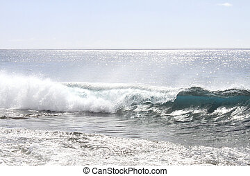 waves at the ocean