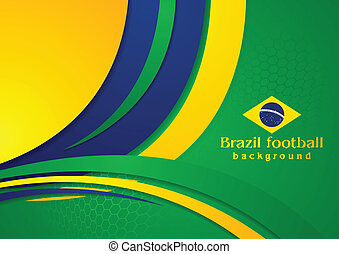 Waves background in Brazilian colors