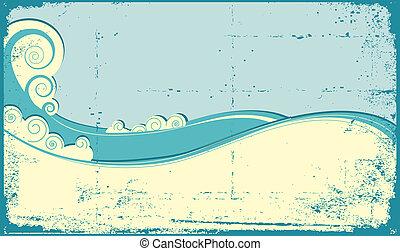 WAves background - Sea waves background. Vintage ...