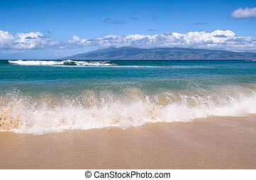 Waves Breaking On A Hawaiian Beach
