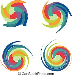 Waves colorful collection vector