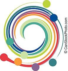 Waves colorful logo