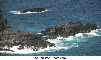 Waves Crashing Ashore