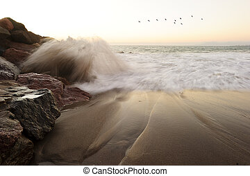 Waves Crashing