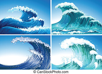 Waves - Illustration of different waves