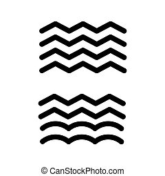 waves icon. thaw isolated on white. eps 10
