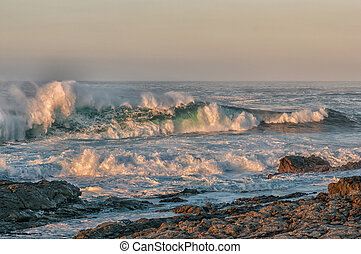 Waves in first rays of the sun