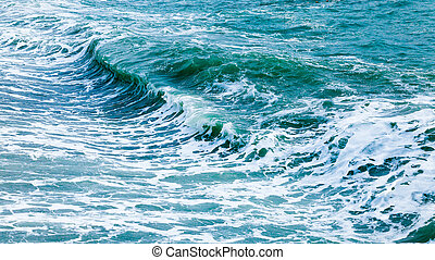 Waves in ocean. wave ocean water background. Beautiful View of seascape