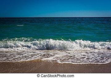 Waves in the Atlantic Ocean, at Palm Beach, Florida.