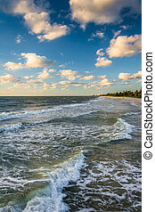 Waves in the Gulf of Mexico, in  Naples, Florida.