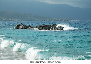 Waves in the Mediterranean sea