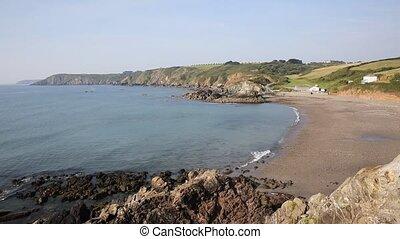 Waves Kennack Sands Cornwall